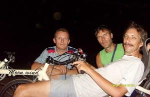 Конструкторы Тамбовских веломобилей, слева направо: Александр Сергеев, Вадим Дунаев, Александр Карпук